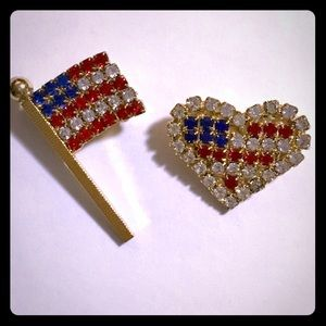 4th of July Brooches